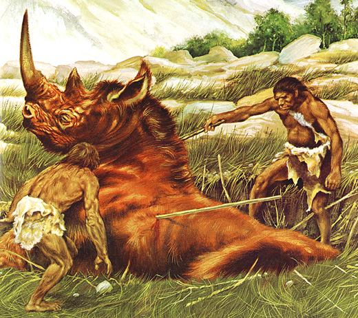 Image result for early man hunting